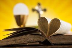 Love religion for christianity background. Eucharist, sacrament of communion background stock photo