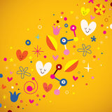 Love retro abstract art vector. Illustration Royalty Free Stock Photo