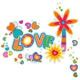Love retro design royalty free illustration