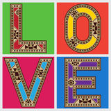 LOVE Retro Style Typography Royalty Free Stock Images