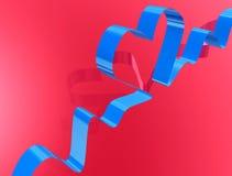 Love ribbon,heart shape Royalty Free Stock Photos