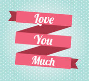 Love ribbon Royalty Free Stock Images