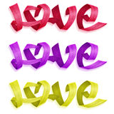 Love Ribbons Set Royalty Free Stock Photo