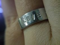 The love ring. Royalty Free Stock Photography