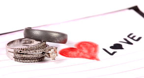 Love and rings stock photos