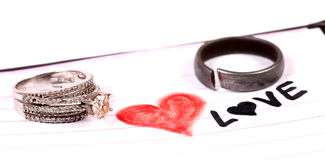 Love and rings Royalty Free Stock Photos