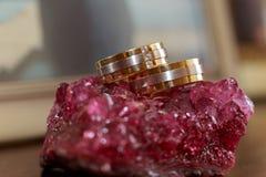 Love rings wedding Stock Photo