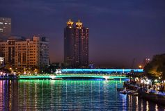 The Lover River in Kaohsiung by Night royalty free stock photo