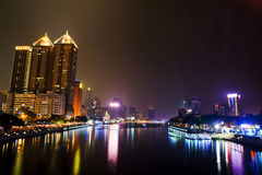 The love river of kaohsiung. The night view of love river in  kaohsiung Stock Photography