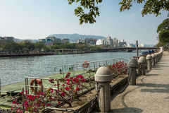 The love river of kaohsiung. The morning view of love river in kaohsiung Royalty Free Stock Photo