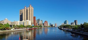 The Love River in Kaohsiung, Taiwan Stock Images