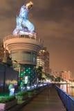 Love River at night, Kahosiung city - Taiwan Royalty Free Stock Images