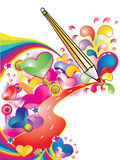 Love road. Splash Road of love, vector illustration Stock Images