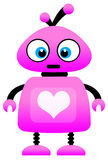 Love robot. Cute little robot sending lots of love Royalty Free Stock Photos