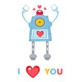 Love robot Royalty Free Stock Photos