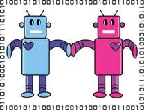 Love Robots Royalty Free Stock Photo