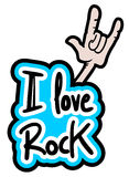 Love rock Royalty Free Stock Photos