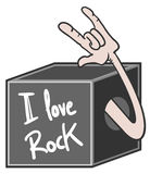 Love rock Royalty Free Stock Photography