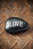 Love Rock Rusty Background Stock Photos