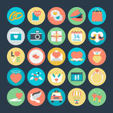 Love & Romance Colored Vector Icons 5 Royalty Free Stock Photo