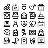 Love & Romance Colored Vector Icons 2 Royalty Free Stock Images