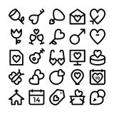Love & Romance Colored Vector Icons 9. Love this entire set of love and romance  icons pack. All icons related love, romance, valentine day, wedding, and Stock Photos