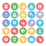 Love & Romance Colored Vector Icons 3 Stock Photo