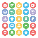 Love & Romance Colored Vector Icons 7 Royalty Free Stock Photography