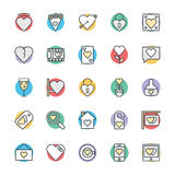 Love & Romance Cool Vector Icons 2. Love this entire set of love and romance  icons pack. All icons related love, romance, valentine day, wedding, and happiness Royalty Free Stock Photos