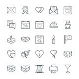 Love & Romance Cool Vector Icons 1. Love this entire set of love and romance  icons pack. All icons related love, romance, valentine day, wedding, and happiness Stock Images