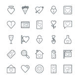 Love & Romance Cool Vector Icons 2. Love this entire set of love and romance  icons pack. All icons related love, romance, valentine day, wedding, and happiness Stock Images