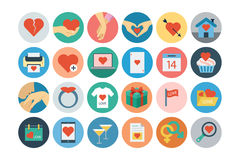 Love and Romance Flat Colored Icons 2. This is the season for love and romance around here no matter what the month. This Vector Icons Pack is absolutely full of Royalty Free Stock Photography