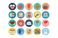 Love and Romance Flat Colored Icons 3 Stock Photos