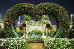 Love and romance gazebo tent. Miracle garden Dubai Royalty Free Stock Photo