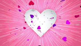Love and Romance Heart Beat stock video footage