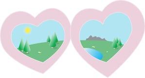 Love romance hearts symbol Stock Photos