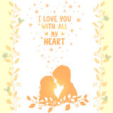 Love romantic card Stock Photo