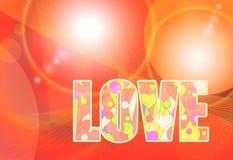 Love romantic greeting vector template Stock Photos