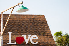 Love on roof Royalty Free Stock Photography