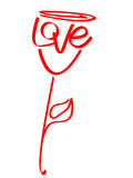 Love rose Royalty Free Stock Image
