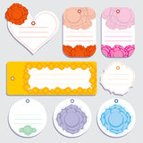 Love Rose Labels Royalty Free Stock Photo