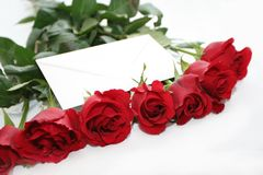 Love in roses Royalty Free Stock Image