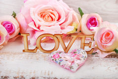 Love and roses background Stock Photography