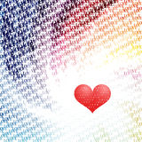 \love\ rotate radiation patten Royalty Free Stock Photo