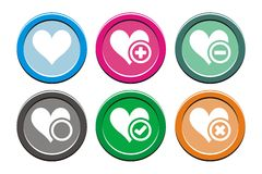 Love round icon sets Stock Photos