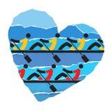 We love rowing. Stock Photo