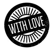With Love rubber stamp Royalty Free Stock Photos