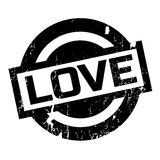 Love rubber stamp Stock Images