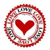 Love rubber stamp vector illustration