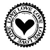 Love rubber stamp Royalty Free Stock Photos